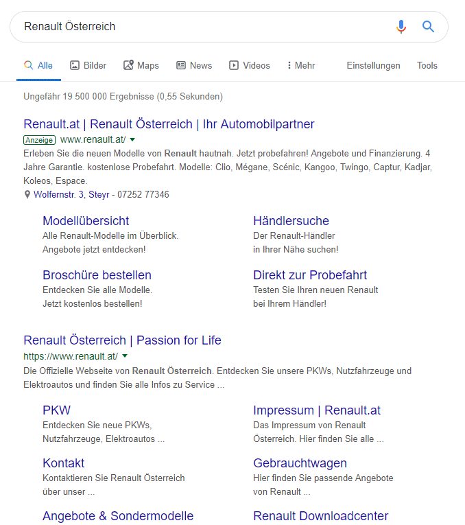Keyword-Recherche - die transaktionale Suche